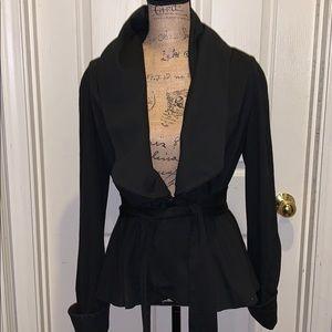 Zara Basic Blazer Black large stretch jacket